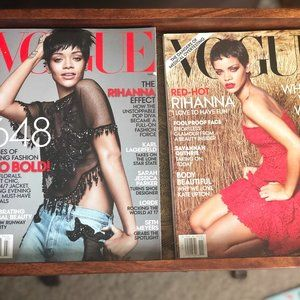 Vogue Wall Art - 2 Rihanna VOGUE covers 2012 & 2104